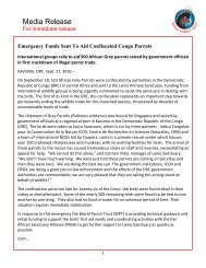 Press Release - World Parrot Trust