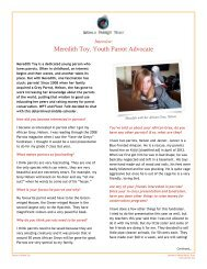 Meredith Toy, Youth Parrot Advocate - World Parrot Trust