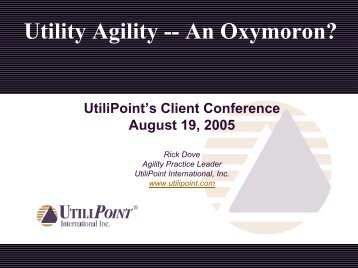 Utility Agility -- Oxymoron? - Paradigm Shift International