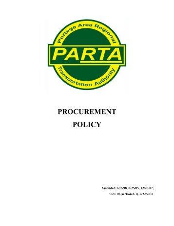 Procurement Policy 9 22 11 - parta