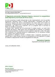 Salvatore Capone - Partito Democratico - Coordinamento ...