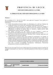 provincia di lecce - Partito Democratico - Coordinamento Provinciale ...
