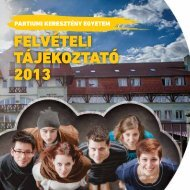 Letölthető változat - Partiumi Keresztény Egyetem