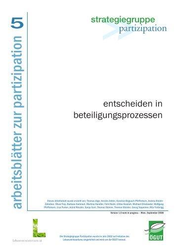 Arbeitsblatt Nr. 1 downloaden (PDF, 129 KB) - Partizipation