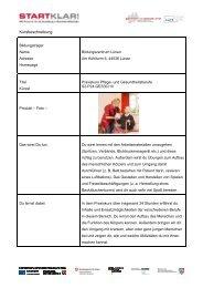Kursbeschreibung - Stiftung Partner für Schule NRW