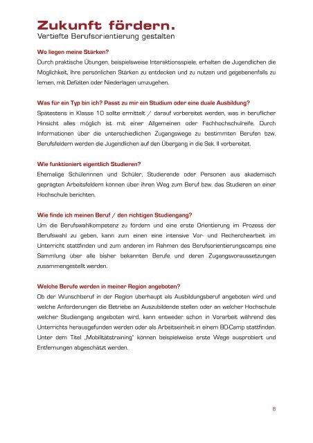 Berufsorientierungscamp - Stiftung Partner für Schule NRW