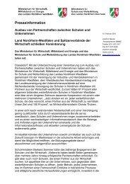 Presseinformation - Stiftung Partner für Schule NRW
