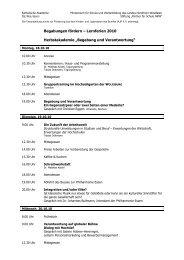 Herbstakademie Übersicht - Stiftung Partner für Schule NRW
