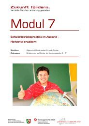 Schülerbetriebspraktika im Ausland - Stiftung Partner für Schule NRW