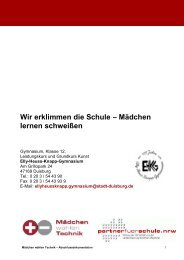 Mädchen lernen schweißen - Stiftung Partner für Schule NRW