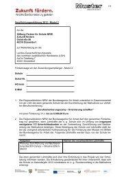 Verpflichtungserklärung 2012 - Stiftung Partner für Schule NRW