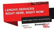 Lenovo Services - Lenovo Partner Network