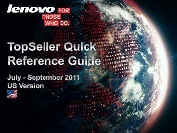Lenovo Topseller Playbook - Lenovo Partner Network