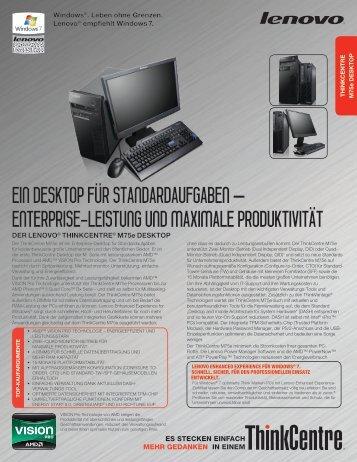 ein desktop für standardaufgaben - Lenovo Partner Network