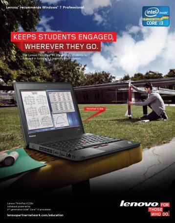 ThinkPad X130e Education Brochure - Lenovo Partner Network