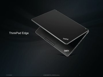 ThinkPad Edge - Lenovo Partner Network