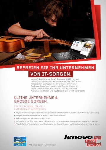 VON IT-SORGEN. - Lenovo Partner Network