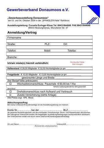 Anmeldung/Vertrag - Gewerbeverband Donaumoos