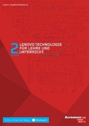 Lenovo TechnoLogie für Lehre und unTerrichT. - Lenovo Partner ...