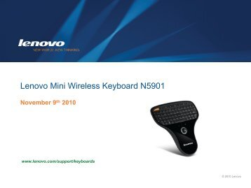 Lenovo Mini Wireless Keyboard N5901 - Lenovo Partner Network