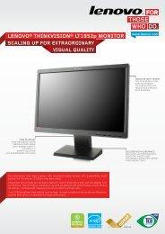 Lenovo® Thinkvision® LT1952p moniToR - Lenovo Partner Network