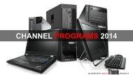 Channel programs 2013 - Lenovo Partner Network