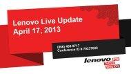 04-17-13 - Lenovo Partner Network