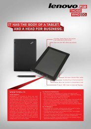 it has the body of a tablet. and a head for business. - Lenovo Partner ...