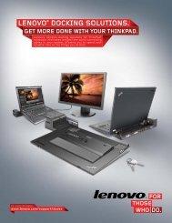 LENOVO® DOCKING SOLUTIONS. - Lenovo Partner Network