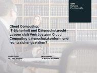 Cloud Computing: IT-Sicherheit und Datenschutz - partnering
