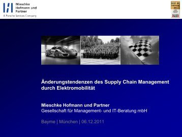 Änderungstendenzen des Supply Chain Managements ... - partnering