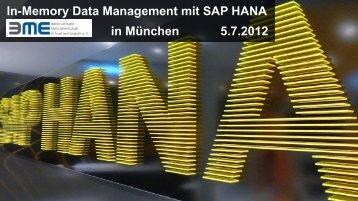 SAP HANA - partnering