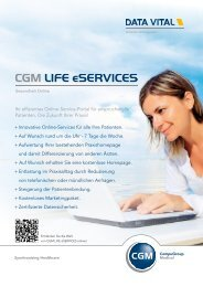CGM LIFE eservices - Data Vital