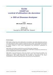 Guide relatif au contrat d'utilisation de données e- SDI et Disease ...