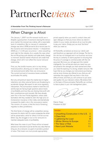 When Change is Afoot - PartnerRe