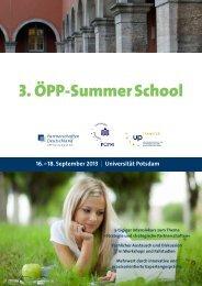 3. ÖPP-Summer School - ÖPP Deutschland AG