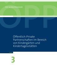 Öffentlich-Private Partnerschaften im Bereich von Kindergärten und ...