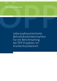 Lebenszyklusorientierte Betriebskostenkennzahlen für ein ...