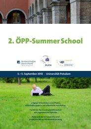 2. ÖPP-Summer School - ÖPP Deutschland AG