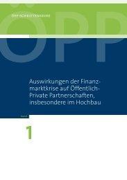 ÖPP Schriftenreihe Band 1 - ÖPP Deutschland AG