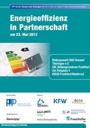 Energieeffizienz in Partnerschaft - PPP-Verein