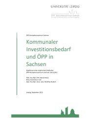 Kommunaler Investitionsbedarf und ÖPP in Sachsen - Universität ...