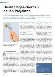 Qualitätsgesichert zu neuen Projekten - ÖPP Deutschland AG