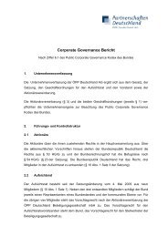 Corporate Governance-Bericht PD 2009 - ÖPP Deutschland AG