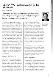 """""""Kleine"""" PPPs – maßgeschneidert für den Mittelstand - ÖPP ..."""