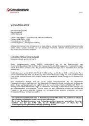 Verkaufsprospekt Schoellerbank USD Liquid
