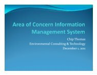 Chip Thomas Environmental Consulting & Technology December 1 ...