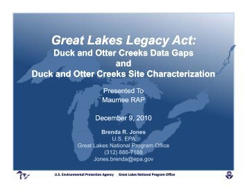 Duck & Otter Creeks Investigation & Site Characterization Projects