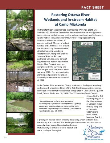 FACT SHEET Restoring Ottawa River Wetlands and In-stream ...