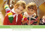2007 Annual Report and 2008 Plans - Partnership for Children